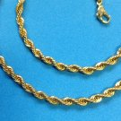 """PRETTY GOLD TONE CHAIN NECKLACE SOLID SPIRAL, COBRA? 17.5"""" LOOKS LIKE REAL GOLD"""
