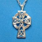 "NEW STERLING SILVER CELTIC CROSS PENDANT ON 18"" STERLING CHAIN ~ LOVELY PIECE"