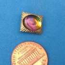"MULTI COLORED STONE IN GOLD TONE TIE TAC TACK, 3/8"" X 1/2"""