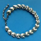"""VINTAGE """"CORO"""" SILVER TONE CHOKER NECKLACE. CLASSY PIECE!! UP TO 16.5"""" LONG X 5/8"""""""