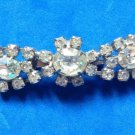 VINTAGE DAZZLING RHINESTONE IN SILVER TONE SETTING PIN