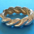 "VINTAGE SILVER TONE SWIRL DESIGN HINGED BANGLE BRACELET 7/8"" THICK FITS 7"" WRIST"