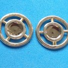 "GOLD TONE PIERCED STUD EARRINGS 7/8"" VERY NICE!!"