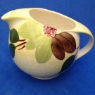 PRETTY LITTLE HAND PAINTED YELLOW GREEN BROWN PITCHER. UNMARKED STANGL ?