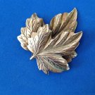 "FLOATING AUTUMN LEAVES SILVER TONE PIN 2 1/2"" x 2 1/8"" VERY PRETTY!"