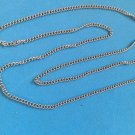 "UNI SEX SILVER TONE SIMPLE LINK CHAIN NECKLACE 30"" LONG X 1/8"" STURDY !!"