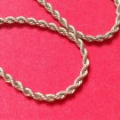 "CLASSIC ""MONET"" GOLD TONE 1/8"" THICK COBRA CHAIN NECKLACE 18"" LONG"