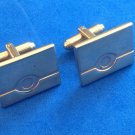 "Hickok USA cuff links, gold tone 7/8"" x 5/8"" - vintage."