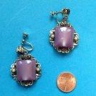 """Purple dangle screw earrings, vintage, large & lovely 1 3/4"""" x 1 1/4""""."""