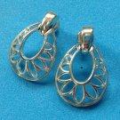 """Door knocker pierced earrings silver tone 1"""" x 5/8"""" - just beautiful."""