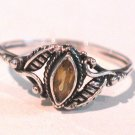 Sterling silver & topaz ring size 6.