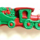 "Christmas train ornament vintage, made of wax - 1950's @ 5 1/2"" x 2 1/8"" x 1""."