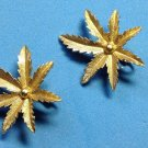 Clip on earrings, gold tone marijuana? Leaf  by Sarah Coventry.
