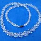 "Crystal strand necklace. Graduated & faceted beads - 30"" long, sparkling !"