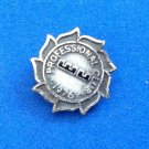 "Sterling silver lapel pin tie tack ""W.U."" Professional Club 1976 ."