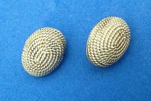 """Clip on earrings. Sterling silver dome shaped 3/4"""" x 5/8"""""""