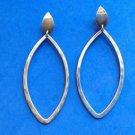 """Pierced dangle earrings unmarked silver. 2 3/4"""" long & lightweight  ."""