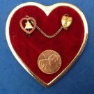 """VINTAGE WOMAN OF THE MOOSE FAITH HOPE CHARITY FRATERNAL PIN SET DIFFERENT """"CASE"""""""