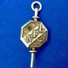 "Fraternal pin pendant sterling silver green stone eye ""NFL"" Aladins lamp."