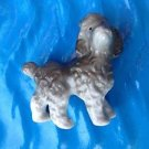 "Gray poodle figurine made in japan 2 3/4"" x 2 1/2"" x 1 1/2"" very sweet !"
