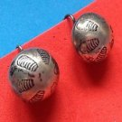 Native American screw on earrings. Vintage antique sterling silver old pawn?