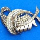 Solid sterling silver gold overlay Brookraft pin. Vintage 30g !