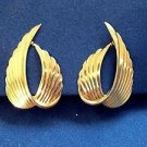 Beau Sterling gold overlay clip on earrings.(signed under hinge)