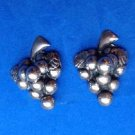 Mexican silver screw on earrings, grape design