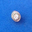 Silver tone clear stone CZ? Small / tiny tie tack