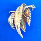 "18k RGP textured pin signed ""Germany"" - vintage"