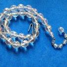 Aurora Borealis cut crystal choker necklace.- vintage, single strand