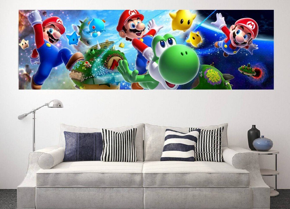 giant size super mario wall sticker for kids