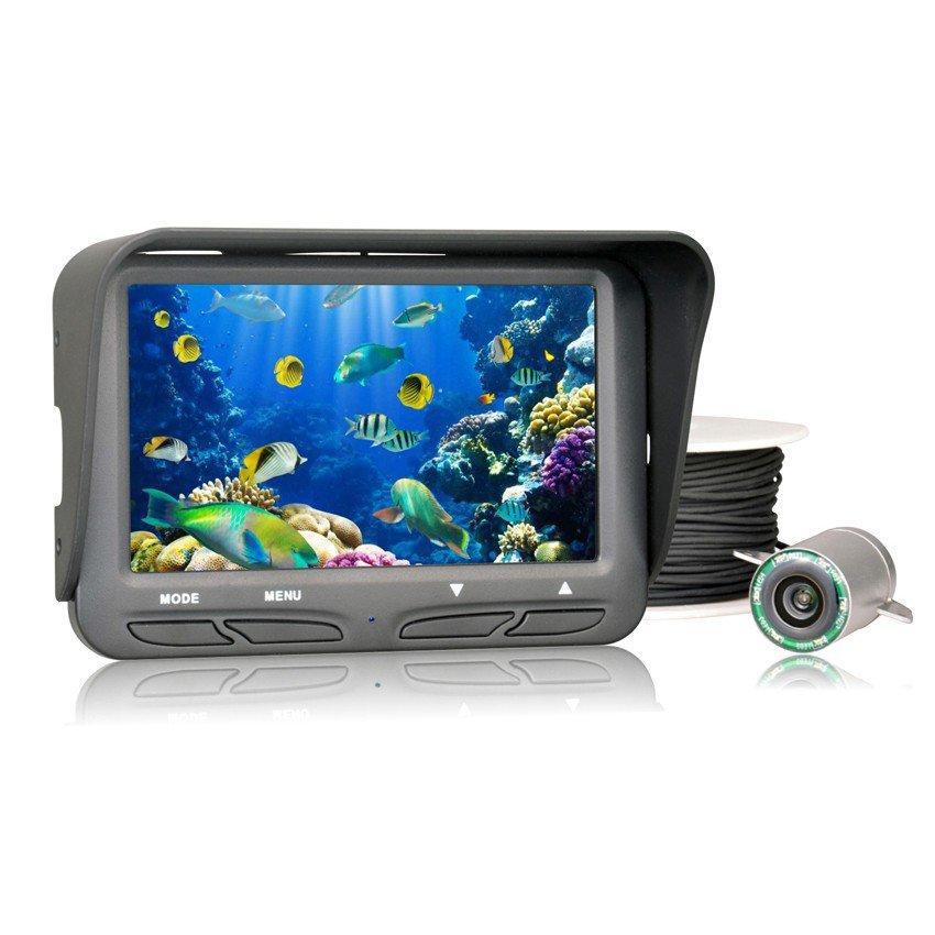 Underwater ice video fishing camera 4 3 inch lcd monitor for Underwater ice fishing camera