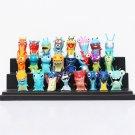 24pcs/set Anime Cartoon 4.5-5cm Mini Slugterra PVC Action Figures