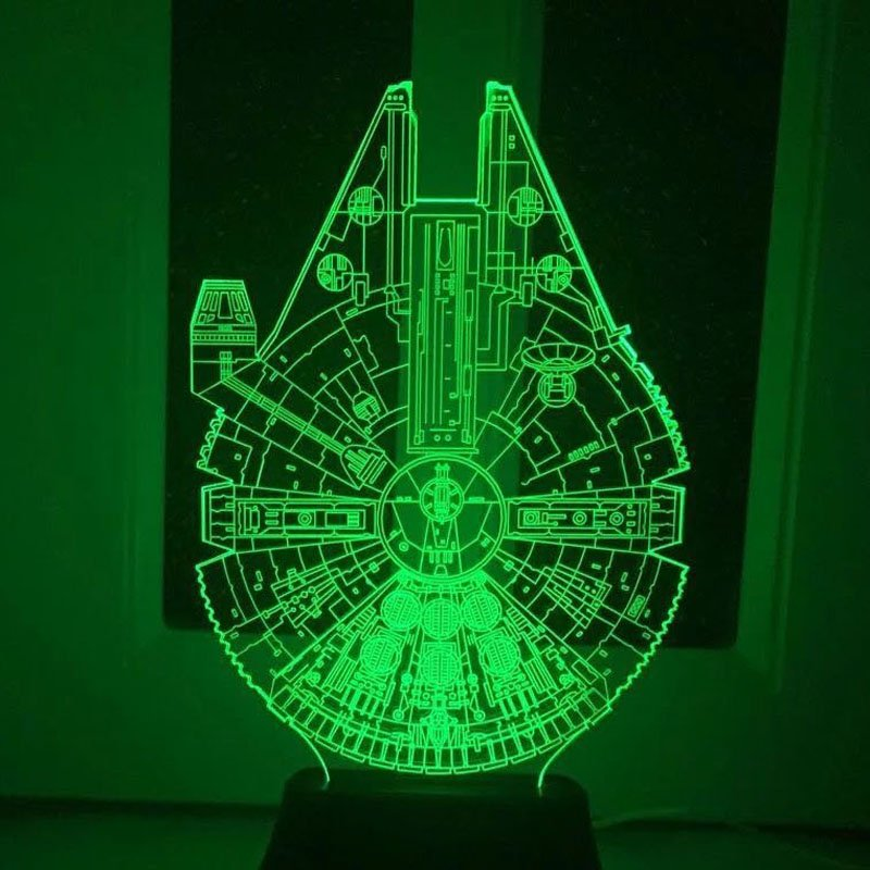 Star Wars 7 color changing  LED lamp Millennium Falcon