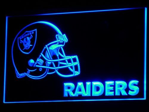 Oakland Raiders Helmet Bar LED Neon Sign
