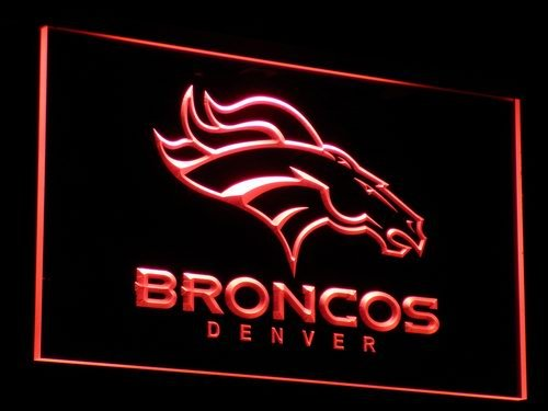 Denver Broncos Bar Pub Logo LED Neon Sign