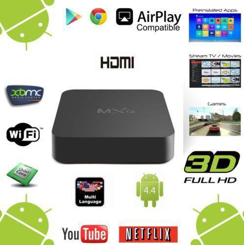 popular  MXQ TV Box Kodi Pre installed Amlogic S805 Quad Core Android tv box