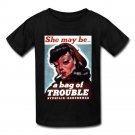 VD SHE MAY BE A BAG OF TROUBLE SYPHILIS GONORRHEA Black T-Shirt GILDAN