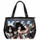 KISS MONSTER PAUL STANLEY GENE SIMMONS Oversize Handbag Purse Leather 2 Sided