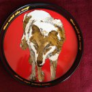 NEAR MINT VINTAGE WOLF'S HEAD OIL Beer Tray 1970's A Real Beauty! RARE