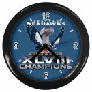 SEATTLE SEAHAWKS SUPER BOWL CHAMPIONSHIP Wall Clock