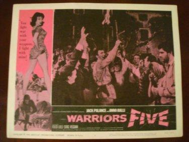 WARRIORS FIVE Jack Palance Anna Ralli Original Lobby Card! #3
