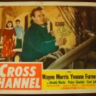 CROSS CHANNEL Wayne Morris Yvonne Furneaux Original Lobby Card! #5