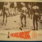 THE SKY ABOVE THE MUD BELOW Herve de Maigret William Dexter Original Lobby Card!