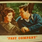 FAST COMPANY Howard Keel Polly Bergen Original Lobby Card! #7