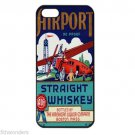 AIRPORT STRAIGHT WHISKEY VINTAGE Apple Iphone Case for 4 4s 5 5c 5s 6 or 6 Plus