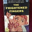 THE FRIGHTENED FINGERS Spencer Dean Vintage 1954 Dell 893 Paperback Murder