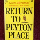 RETURN TO PEYTON PLACE Grace Metalious Vintage 1960 Dell F-91 Paperback