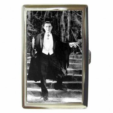 BELA LUGOSI DRACULA SPIDER WEB Cigarette Money Case ID Holder or Wallet! WOW!